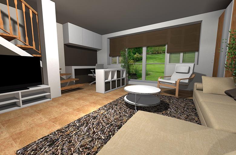 Kuřim - Redesign obývacího pokoje