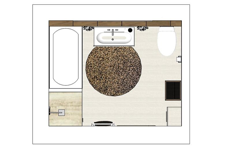 Útěchov - rekonstrukce staršího RD - koupelna