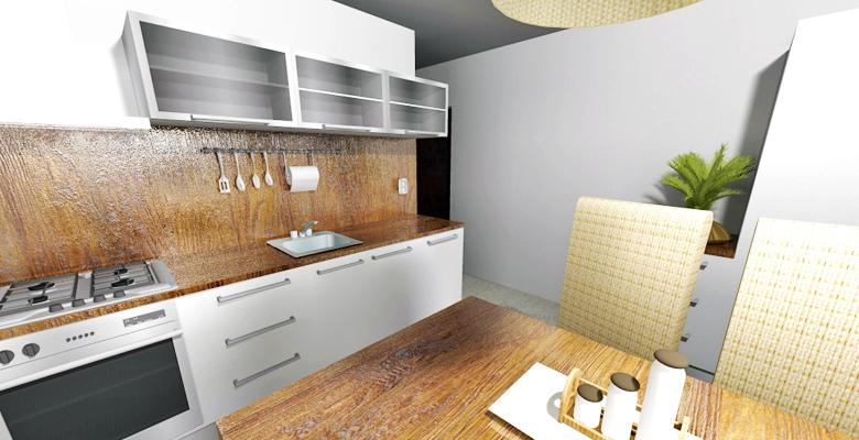 Návrh interiéru bytu Lesná